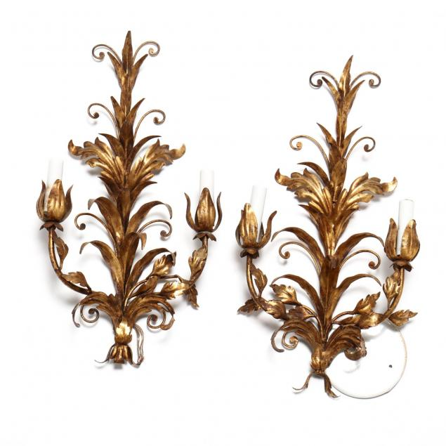 pair-of-italian-gilt-metal-sconces