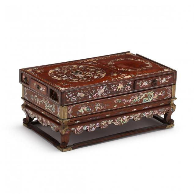 a-rare-chinese-qing-dynasty-wooden-and-inlaid-incense-box-with-raised-stand