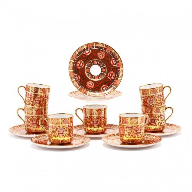 seven-copeland-spode-imari-demitasse-cups-saucers