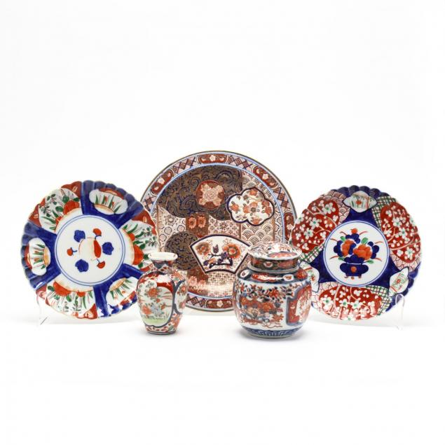 a-group-of-imari-porcelain