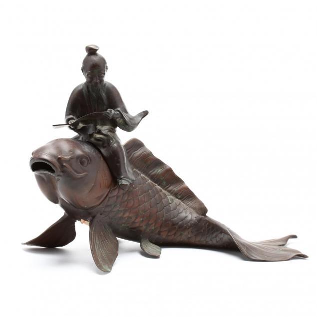 a-large-bronze-carp-with-scholar-incense-burner