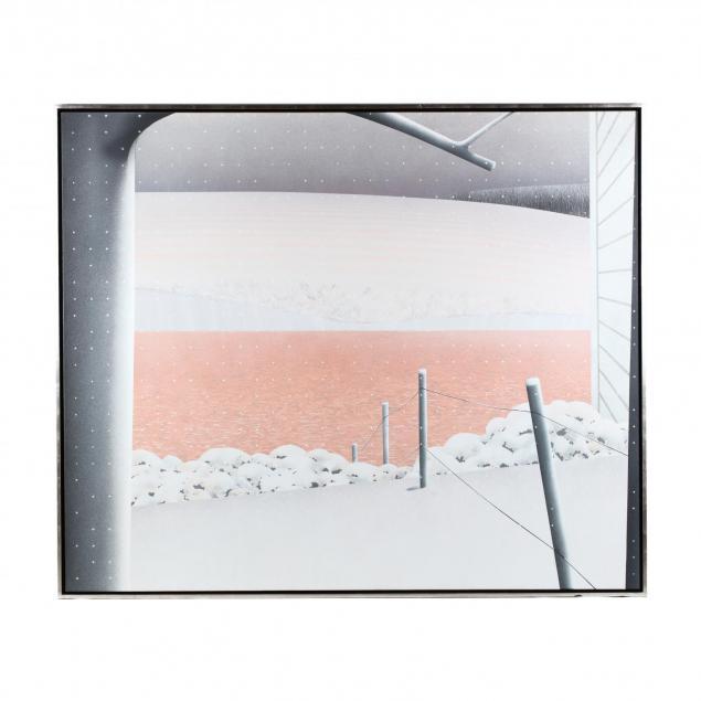 maud-gatewood-nc-1934-2004-i-farm-pond-snow-ending-i