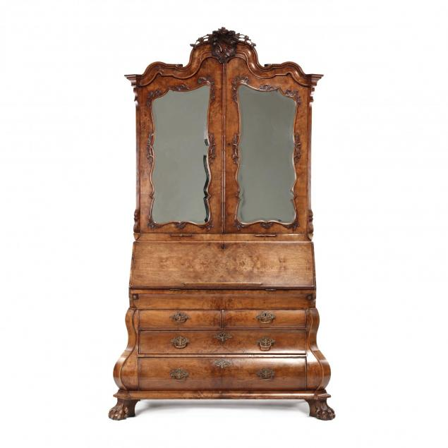 french-or-dutch-baroque-bombe-secretaire-bookcase