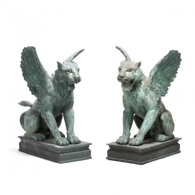 a-pair-of-impressive-bronze-winged-lions
