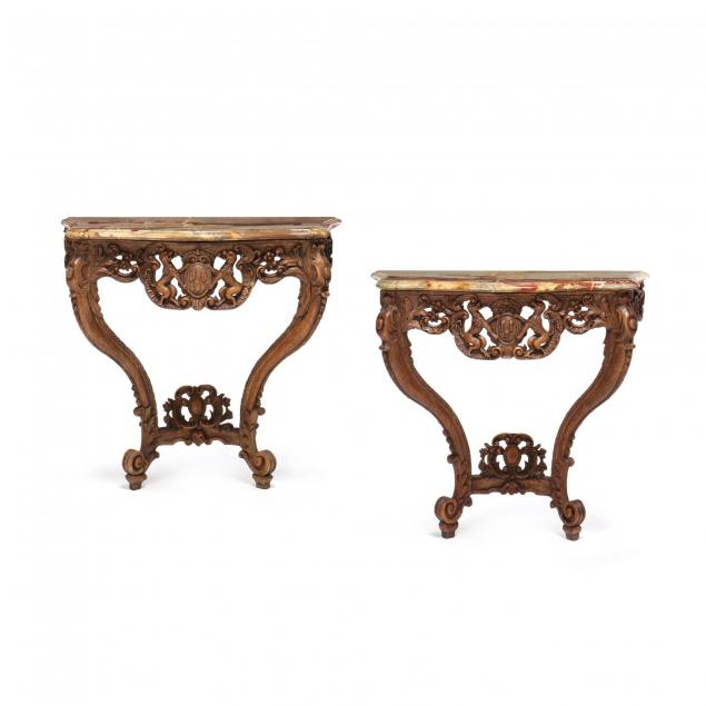 pair-of-french-rococo-marble-top-console-tables