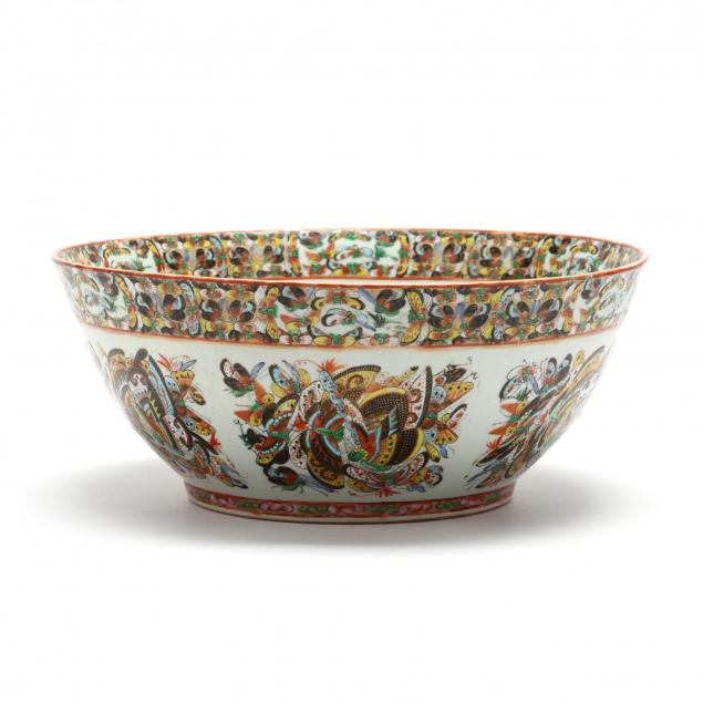 a-large-chinese-porcelain-thousand-butterflies-pattern-punch-bowl