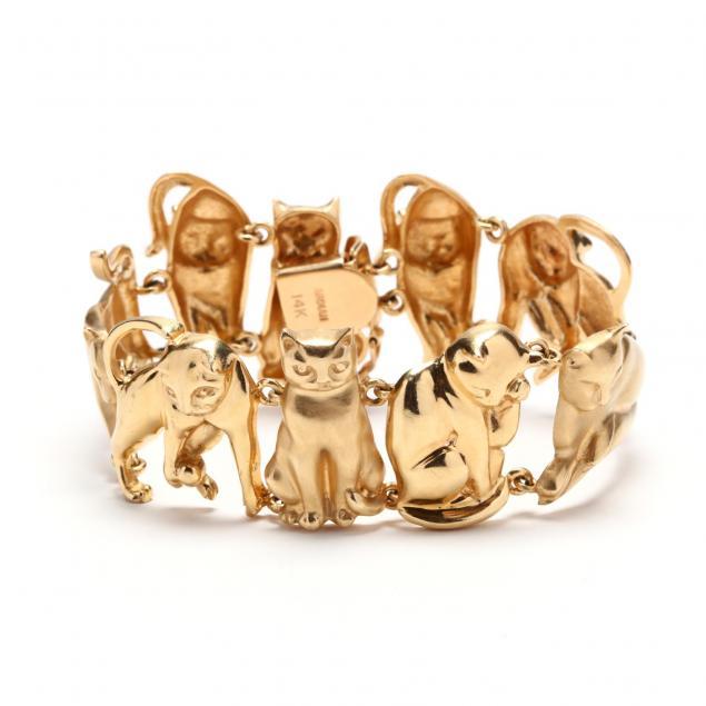 14kt-gold-feline-motif-bracelet-ardian