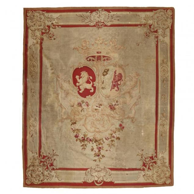 napoleon-iii-aubusson-armorial-coat-of-arms-tapestry