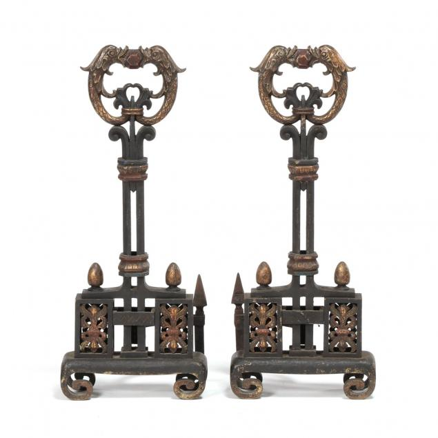 pair-of-spanish-renaissance-revival-andirons