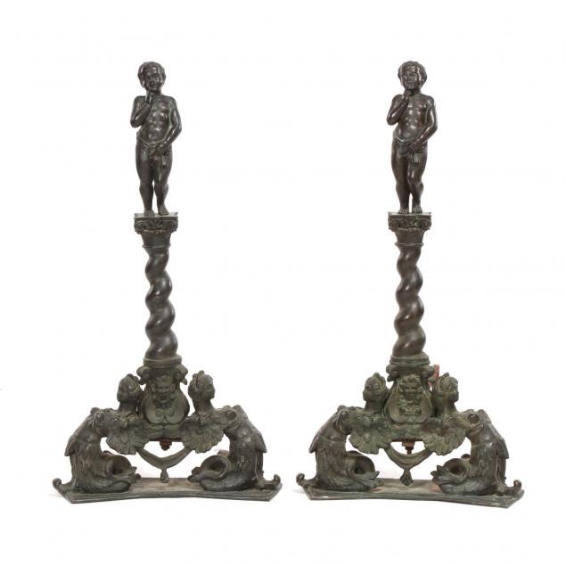 pair-of-renaissance-revival-figural-bronze-andirons