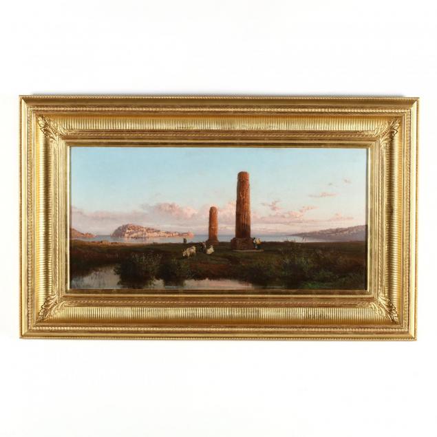 alessandro-la-volpe-italian-1820-1887-coastline-with-roman-ruins