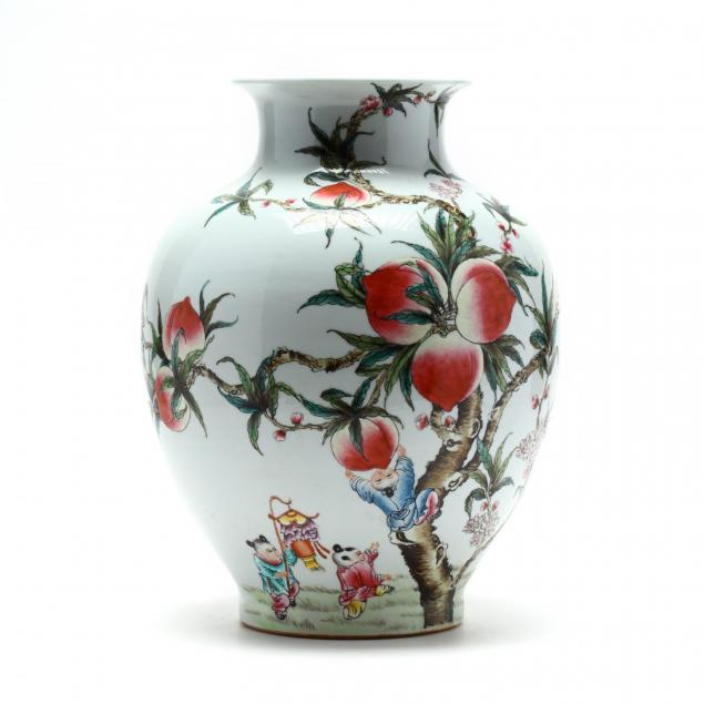 a-chinese-porcelain-vase-with-nine-peaches