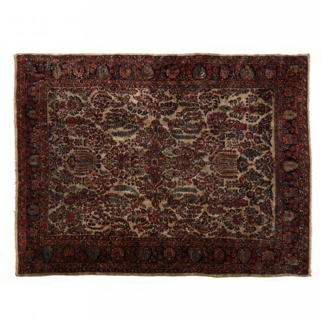 ivory-field-sarouk-carpet
