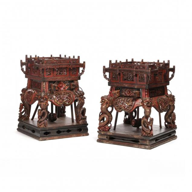a-near-pair-of-large-chinese-carved-and-painted-stands