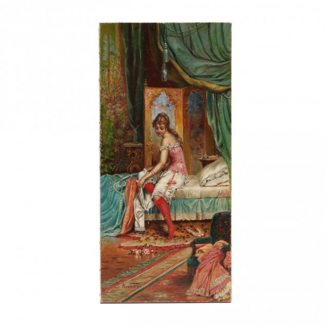 hans-zatzka-austrian-1859-1945-boudoir-scene-through-the-keyhole