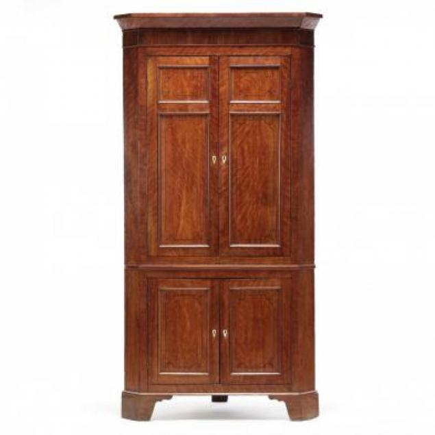 southern-federal-inlaid-figured-mahogany-corner-cupboard