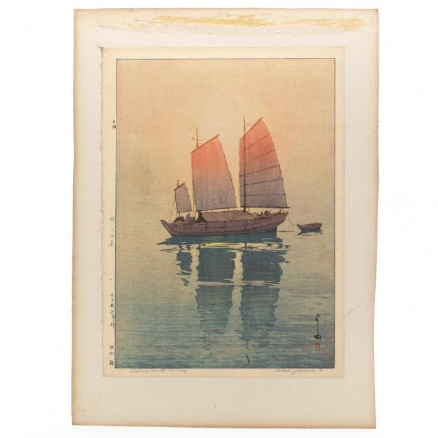 i-sailboats-morning-i-by-yoshida-hiroshi-japanese-1876-1950
