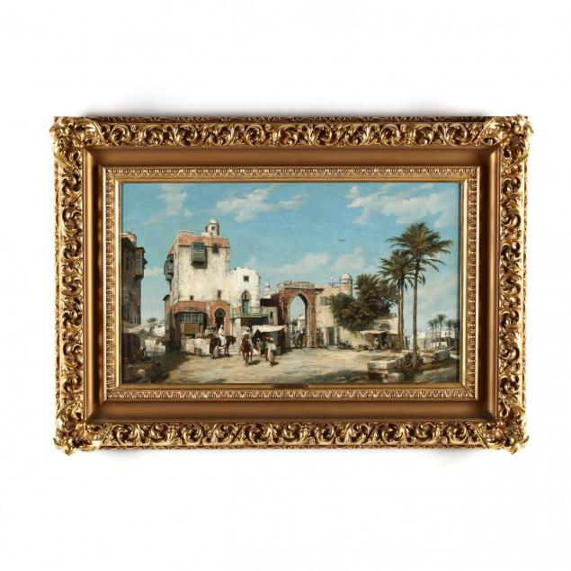 j-c-frisch-german-19th-century-i-town-gate-of-ghizeh-egypt-i