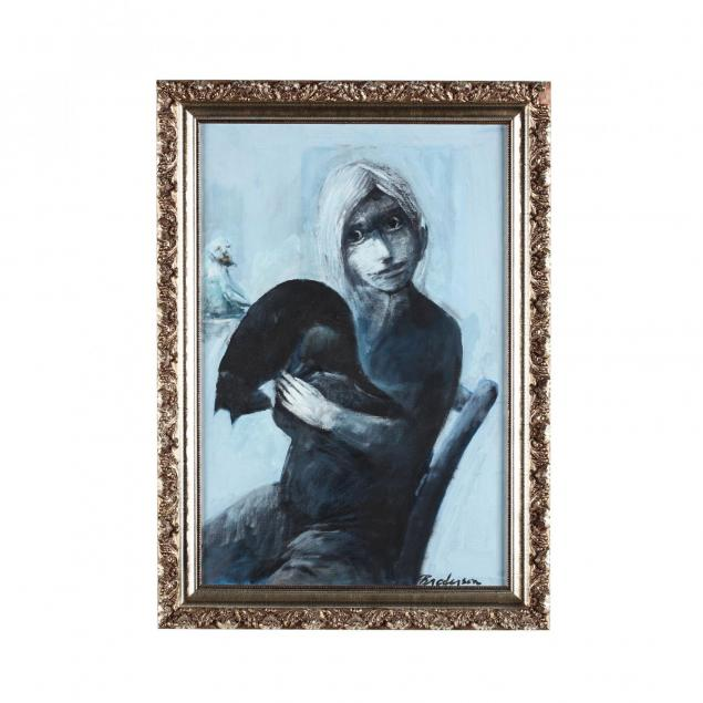robert-broderson-nc-1920-1992-i-metamorphosis-girl-holding-cat-i