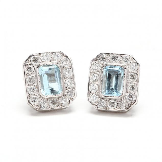 18kt-white-gold-aquamarine-diamond-stud-earrings