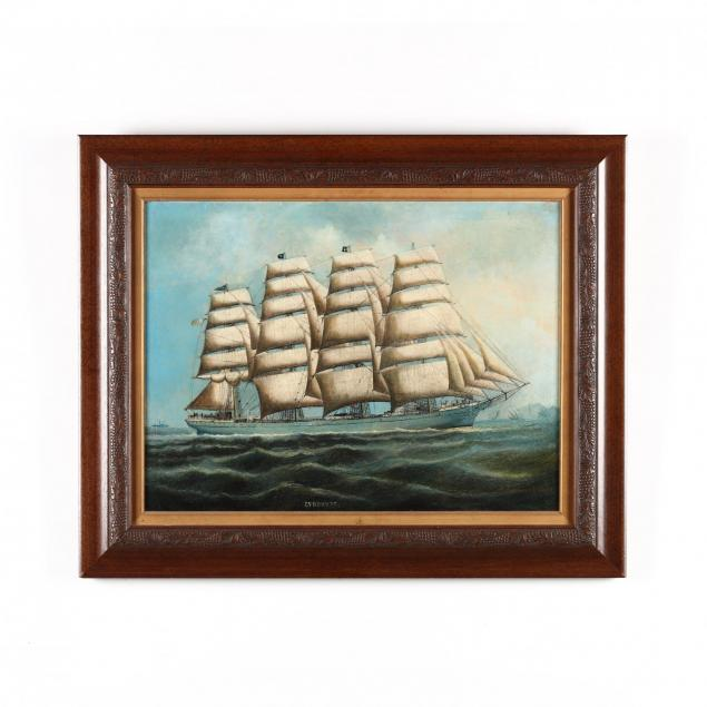 antique-china-trade-school-painting-i-the-ship-lyndhurst-i