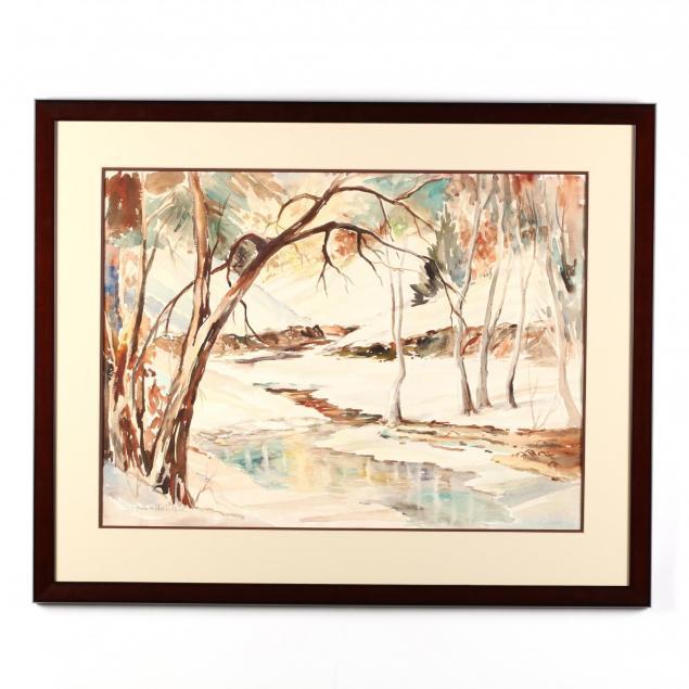 freda-widder-ledford-pa-nc-1894-1959-winter-stream