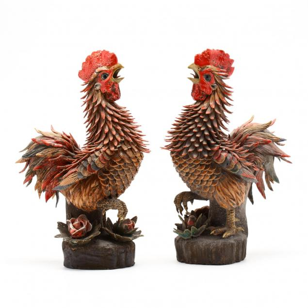 a-pair-of-wucai-porcelain-rooster-statues