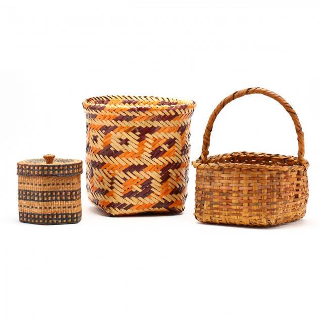 three-native-american-baskets
