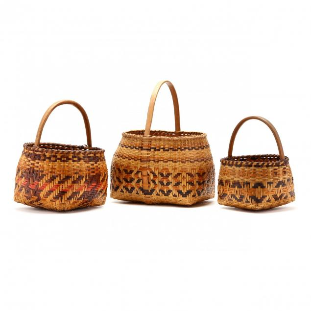 three-vintage-cherokee-baskets