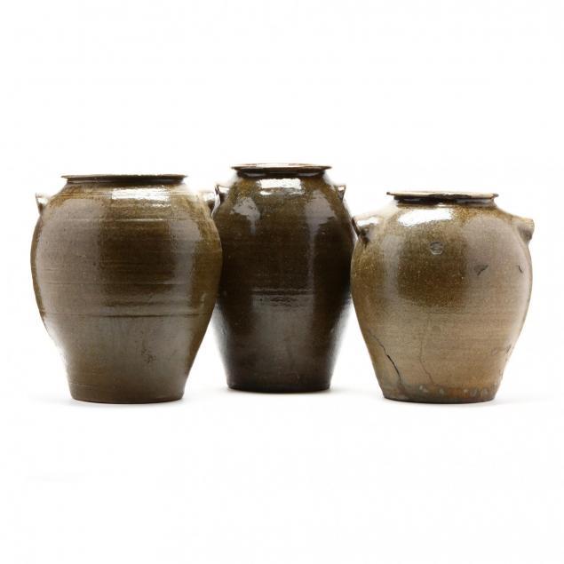 three-western-nc-pottery-storage-jars