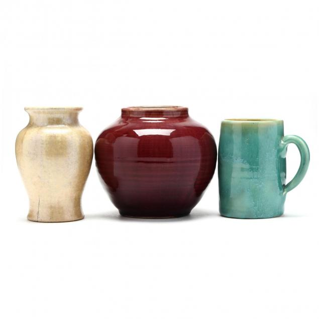 three-pieces-of-pisgah-forest-pottery