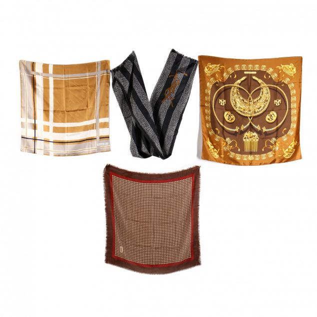 four-fashion-silk-scarves