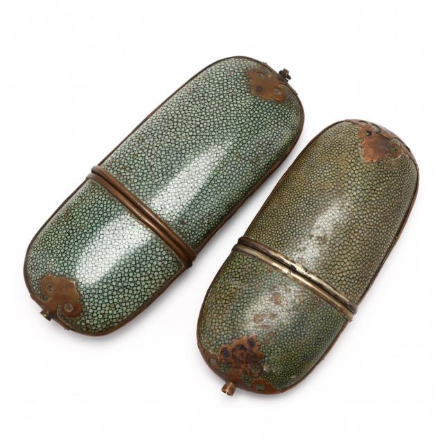 two-shagreen-glasses-cases