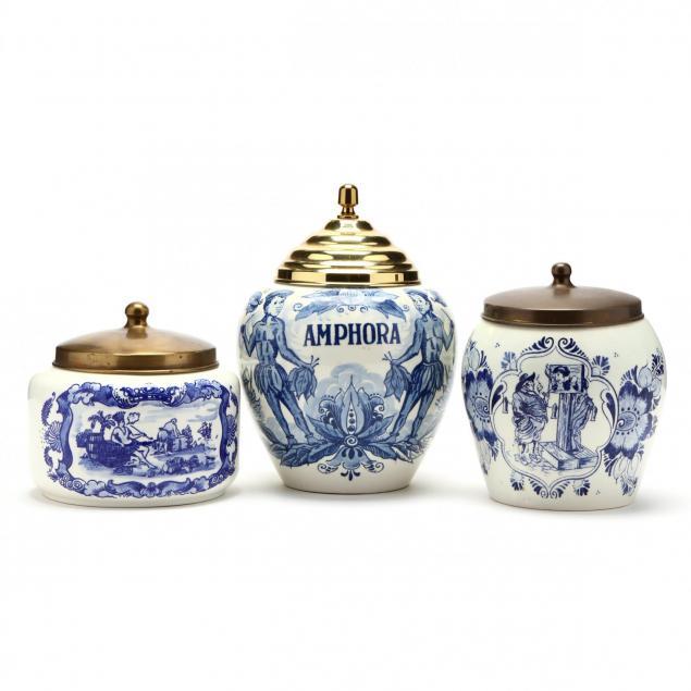 three-blue-and-white-delft-jars
