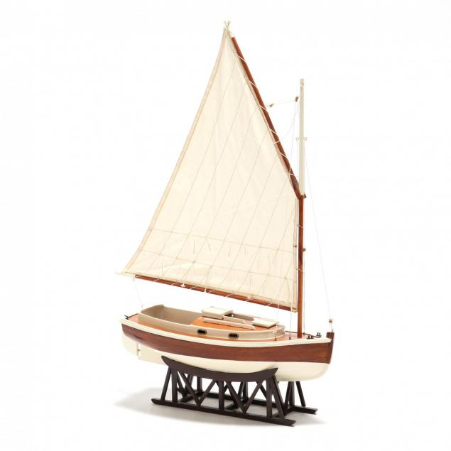 contemporary-model-ship-on-stand