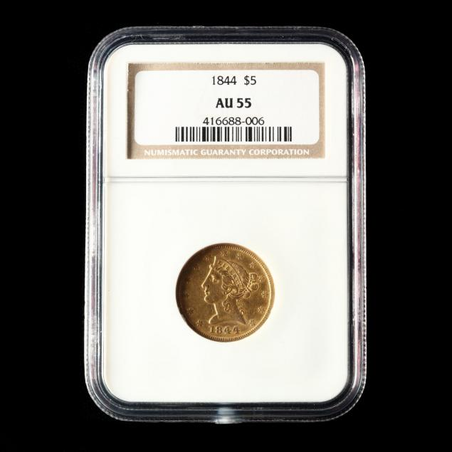 1844-5-gold-liberty-head-half-eagle-ngc-au55