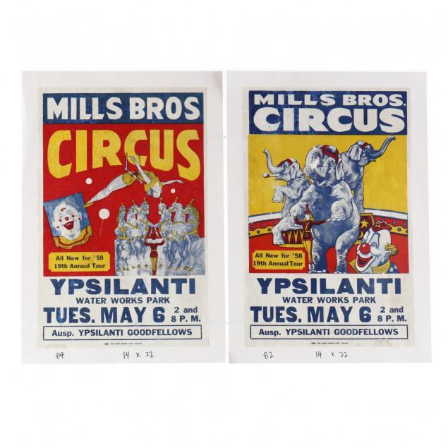 pair-of-mill-bros-vintage-circus-posters