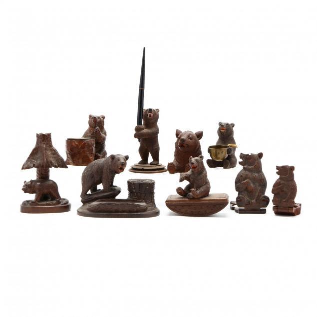 antique-black-forest-desk-accessories