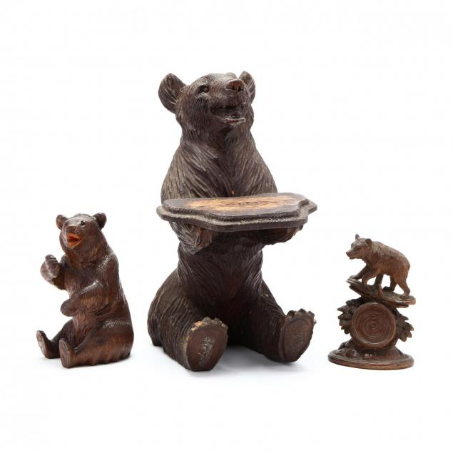 three-antique-carvings-of-bears