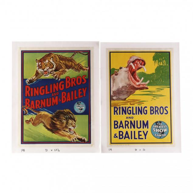 two-ringling-bros-and-barnum-bailey-vintage-circus-posters-1940s