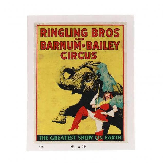 ringling-bros-and-barnum-bailey-vintage-circus-poster-marching-majorette-and-elephant-1943