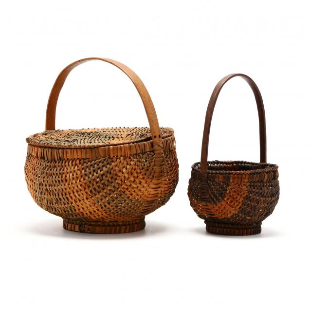 two-vintage-cherokee-white-oak-baskets