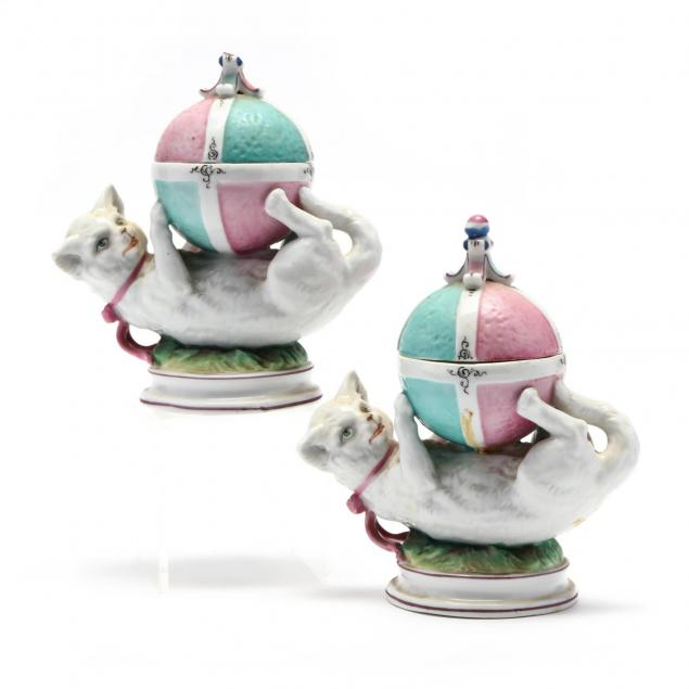 pair-of-continental-porcelain-cat-and-ball-form-lidded-dishes