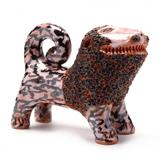 nc-folk-pottery-billy-ray-hussey-lion-figurine