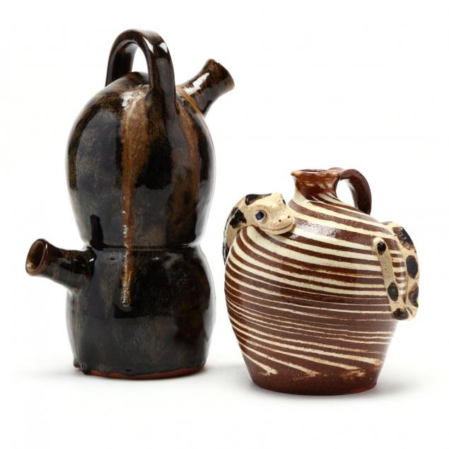 two-western-nc-pottery-vessels