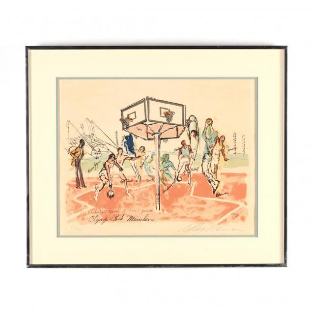 leroy-neiman-american-1921-2012-i-olympic-park-munchen-us-basketball-team-1972-i