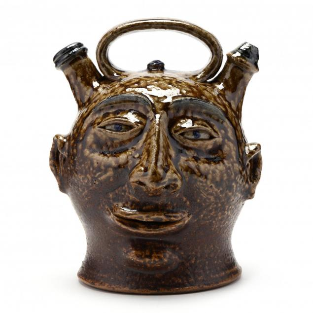 nc-folk-pottery-billy-ray-hussey-face-jug
