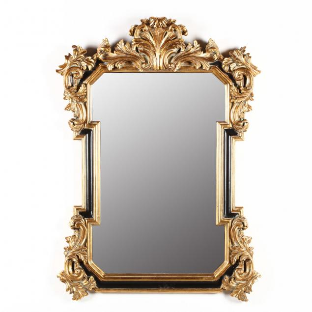 italianate-painted-and-gilt-composition-wall-mirror