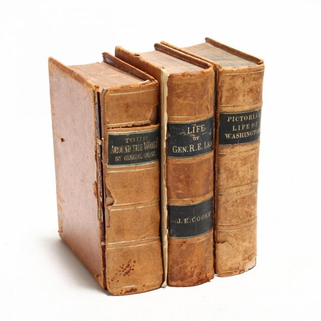three-early-leather-bound-american-biographies