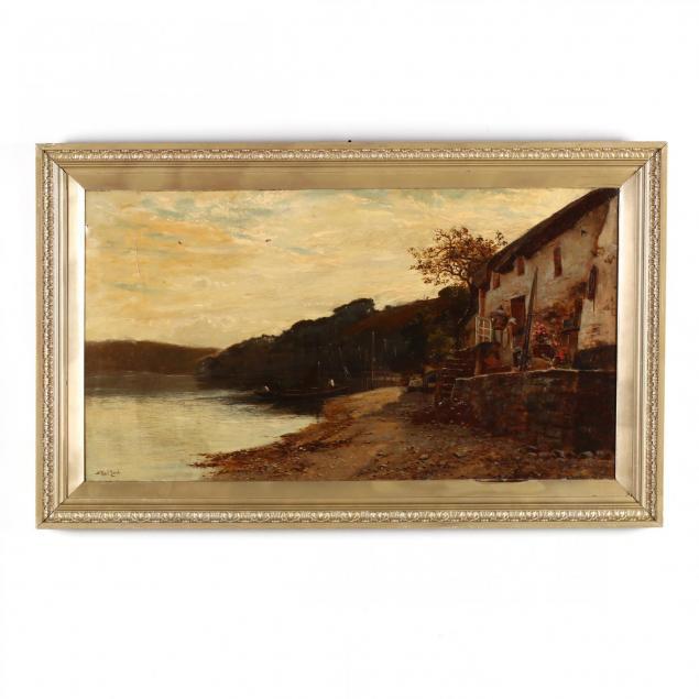 stuart-william-lloyd-british-fl-1875-1929-lakeshore-cottage